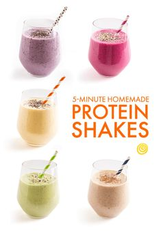 Homemade Protein Shakes (without powders) You'll want to memorize these.shake Homemade Protein Shakes (without powders) You'll want to memorize these. Homemade Protein Shakes, Healthy Protein Shakes, Protein Smoothie Recipes, Diy Protein Shake, Breakfast Protein Shakes, Milkshake Recipes, Natural Protein Shakes, Protein Powder Shakes, Protein Foods