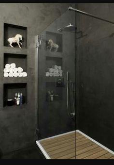 Polished concrete shower
