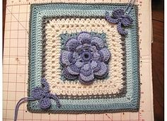 Ribbon and Roses Square... Free pattern!!