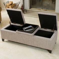 Home Loft Concept Henderson Upholstered Fabric Storage Ottoman & Reviews | Wayfair