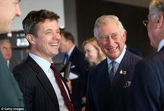 Crown Prince Frederik of Denmark with Prince Charles The Prince of Wales