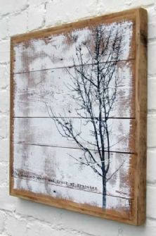 http://www.pinterest.com/pin/53621051787026486/  The Winter Tree Wooden Picture Collection - The roar of trees and crack of branches
