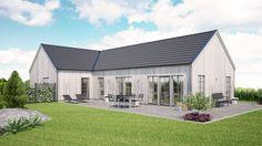 Det börjar med en skiss, en tomtkarta, en ritning eller bara en tanke. Vi på Varbergshus bygger lösvirkeshus utifrån ditt önskemål, bräda för bräda, spik för spik - till ett fast pris och med totalentreprenad. Vi hjälper dig att ta fram ett hus som passar just dig, det är det vi menar med skräddarsytt! Style At Home, Prefab Cottages, House Designs Ireland, Metal Barn Homes, Weekend House, House With Porch, House Elevation, Country House Plans, Home Additions
