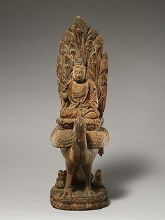 """Buddha Riding a Peacock"""" to """"Buddha, possibly Amitabha (Amituo), on a Peacock Period: Ming dynasty (1368–1644)"""