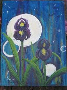 Iris  24 x18 Original Oil  Painting by AlaArt on Etsy, $110.00