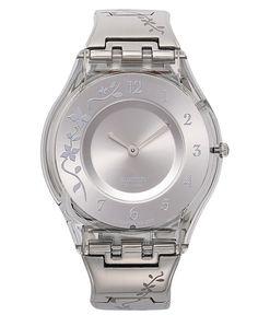 Swatch Watch, Womens Swiss Climber Flowery Flower Engraved Stainless Steel Bracelet 34mm SFK300G - Womens Watches - Jewelry & Watches - Macys