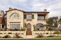 Breathtaking stone-clad Tuscan villa with elegant details in California