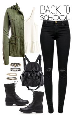 905. by adc421 ❤ liked on Polyvore featuring H&M, J Brand, Aéropostale, Iosselliani, BackToSchool and falljackets