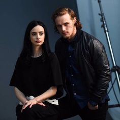 Sam Heughan and Kristen ritter