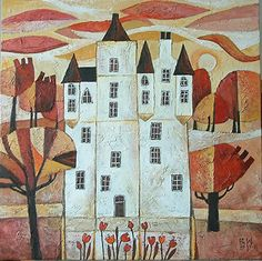 AVAILABLE POA: 'Castle', 40cm x 40cm