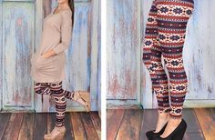 Printed Sweater Leggings 38% off at Groopdealz