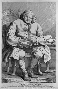 Simon Fraser, 11th Lord Lovat (1667 - 1747), was convicted of treason for his involvement in the Jacobite rising and executed at Tower Hill, London.