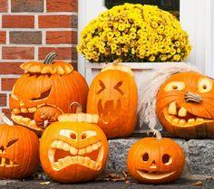 Halloween Kürbis - 40 ausgefallene Ideen, wie Sie Kürbisse zu Halloween in Szene setzen