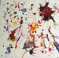 Pink end Mixed Media Ink Painting, Wax, Mixed Media, My Arts, Pink, Mixed Media Art, Pink Hair, Laundry