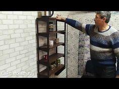НОВЫЙ ПРИСТЕННЫЙ СТОЛ СТЕЛЛАЖ ТРАНСФОРМЕР! - YouTube Metal End Tables, Metal Welding, Bookcase, Shelves, Youtube, Home Decor, Tiny House, Restaurant, Furniture Ideas