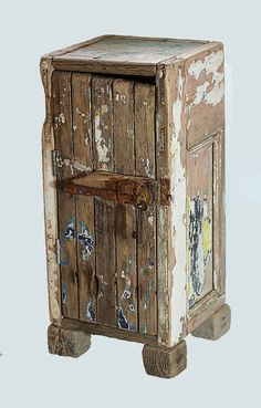 Driftwood Floor standing cupboard,Cabinet, Drift wood  Boat wood and reclaimed £225.00