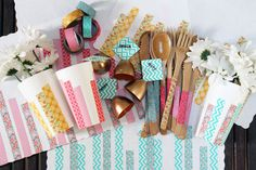Made yesterday: Washi Tape Tablescape