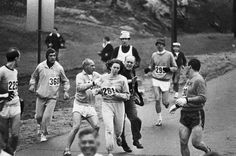 Did you know women were not allowed to enter the Boston Marathon until 1972? Meet Katherine Switzer, in 1967 she entered the marathon against organizer's rules and finished despite an official attempting to rip off her number and throw her out of the race.    Katherine is pretty bad-ass and deserves some respect for pulling this off.