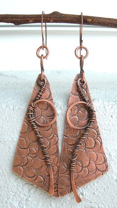 magical+copper+earringsboho+earringscool+by+Kissedbyclover+on+Etsy,+$34.00