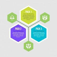 Hexagon infography graphics