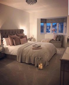 32 Cozy Home Decorating Ideas for Girls Bedroom Cottage Bedroom Decor, Room Ideas Bedroom, Cozy Bedroom, Bedroom Apartment, Bedroom Furniture, Bed Room, Bedroom Designs, Bedroom Colors, Bedroom Neutral