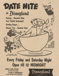 Date Nite at Disneyland 1957 (via)