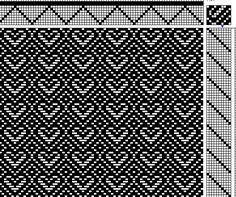 Hearts and Diamonds on 8 Shafts 10 Treadles