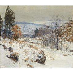 """""""The Hill Country,"""" Edward Willis Redfield, oil on canvas, 26 x 30"""", private collection."""