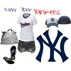 I could totally dig this cute Yankees outfit!