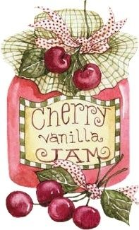Art by Diane Knott - Cherry Vanilla Jam. Cherries Jubilee, Recipe Scrapbook, Arts And Crafts, Paper Crafts, Pintura Country, Country Paintings, Country Art, Country Style, Decoupage Paper