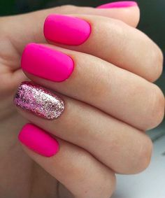 "35 Impressive Pink Nail Art Designs Ideas What are Pink and White Nails? In short, they are what's commonly referred to as a ""French manicure\"" -- pink […] Colorful Nail Designs, Acrylic Nail Designs, Nail Art Designs, Nails Design, Colorful Nails, Girls Nail Designs, Pink Acrylic Nails, Pink Nail Art, Pink Art"