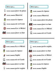 Communicative French Activity (Speak, Listen, Write): Savoir and Connaitre