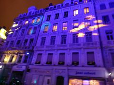 Images cast by the veilleuse on the facades by Wendy Huntington Parker Fages on 500px