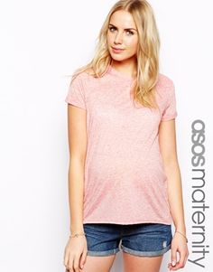 1c8e2cb1d40a ASOS Maternity T Shirt In Neppi Casual Maternity Outfits