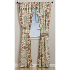 Exotic and whimsical, with motifs inspired by modern art the Esprit curtain panel pair with tie backs, provides a perfect accent to a bohemian lifestyle. Designed to coordinate with a wide variety of interior decor, Esprit is perfect for any season.