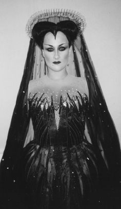 "Still of Diana Damrau as the Queen of Night in Mozart's ""Die Zauberflaute"" (""The Magic Flute"")."