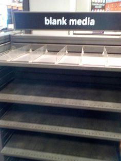 Blank media...indeed..totally blank!