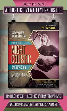 Acoustic Event Flyer / Poster Template PSD