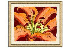 Hand-Colored Tropical Botanical I