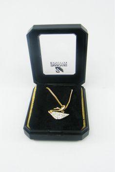 Vintage Swarovski Crystal Swan Chain
