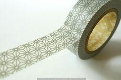 Grey STAR Traditional Pattern Japanese Washi Tape $4.00