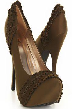 d84c3ed9d0e Mckensie Luxury Ruffle Platform High Heels Platform High Heels