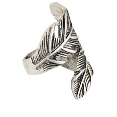 Classics 77 Wrapping Feathers Ring (12 CAD) ❤ liked on Polyvore featuring jewelry, rings, feather wrap ring, wrap rings, wrap around rings, feather ring and feather jewelry