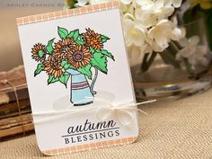 Autumn Blessings Card by Ashley Cannon Newell for Papertrey Ink (August 2012)