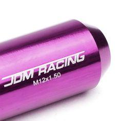 Purple Accent//Black Body M12x1.50 Conical Close Tuner 16x Lug Nuts+4 Lock Nuts