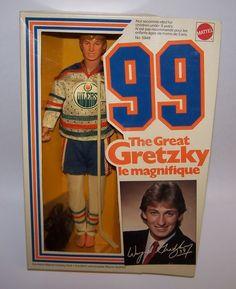 "Wayne Gretzky Edmonton Oilers Hockey Player 12"" Doll No. 5949 NIB Mattel 1983 #Mattel"