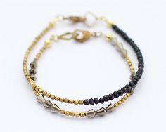 Stackable bracelets Brass & beads collection