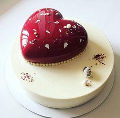 Beautiful heart cake