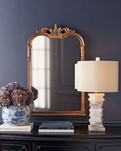 Shop Small Jacqueline Mirror at Horchow, where you'll find new lower shipping on hundreds of home furnishings and gifts. Anthropologie Mirror, Alabaster Lamp, Stone Lamp, Foyer Decorating, Decorating Ideas, Decor Ideas, Gift Ideas, My New Room, Country Decor
