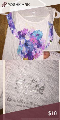 Two layered tank Justice layered shirt Justice Shirts & Tops Tank Tops